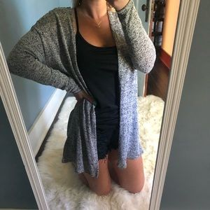 Heathered Grey Cardigan
